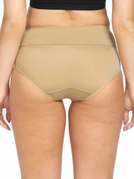 Klamotten Brown Satin Solid Baby Doll -X208_Brown