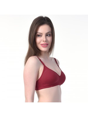 Rajnie Cotton Non Padded Non Wired Full Coverage Pink Bra (Set of 3) -RJ666PK-3PC