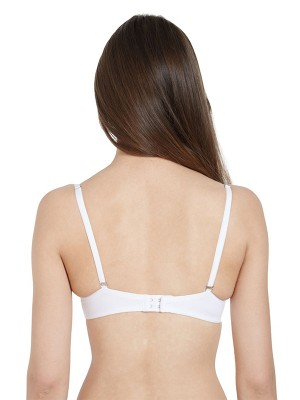 Smexy Cotton Lycra Solid White & White Camisole (Pack Of 2) -SMEXY-WW-Strap-Camisole