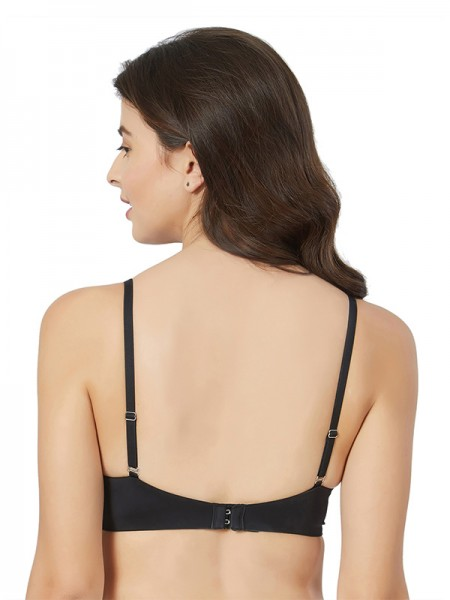 Smexy Cotton Lycra Solid White & Black Camisole (Pack Of 2) -SMEXY-WB-Strap-Camisole