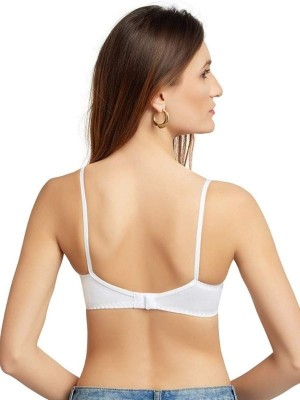 Sona Cotton Non Padded Non Wired Full Coverage White Nursing Bra -SL-FEEDING-BRA-WHITE