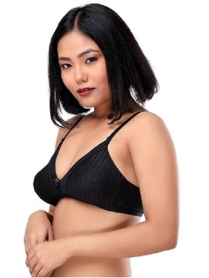 Sona Cotton Non Padded Non Wired Full Coverage Maroon T-Shirt Bra -SL-M1001-MAHROON
