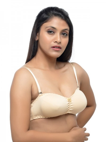 Urbaano Polyamide Non Padded & Non Wired Solid 3/4th Coverage Multicolor Bridal Bra & Panty Set (Pack Of 2) -URA2232C