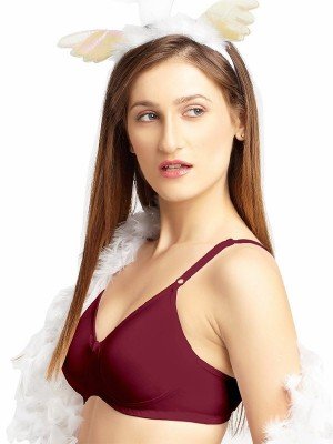 Urbaano Cotton Lightly Padded Non Wired Solid Full Coverage Red Bra & Panty Set -URA1701S