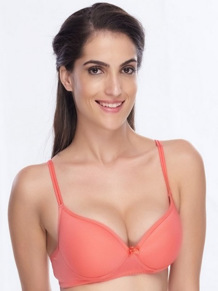 Urbaano Lacy Padded Wired Full Coverage Multicolor Push Up Bra (Pack Of 2) -URA2031C