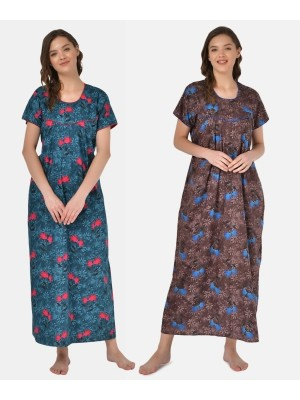 Valencia Sleepwear Women's Embroidery Night Gown Lizzybizzy cotton-KNW-42