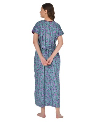 Valencia Sleepwear Women's Embroidery Night Gown Lizzybizzy cotton-KNW-67