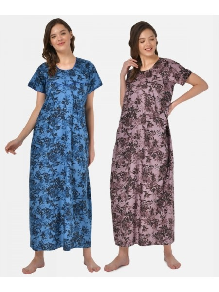 Comfort Lady 95% Cotton and 5% Spandex Ink Blue Causal Wear,Leggings-VALCOMLDY-Ink Blue