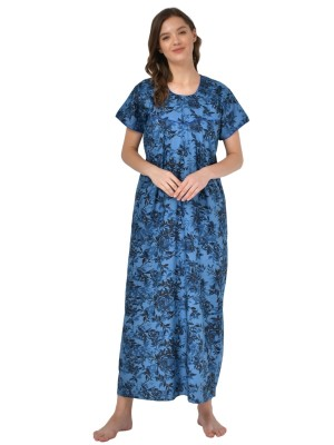 Mystere Paris Polyester & Crepe Printed Navy Blue Palazzo -G182A