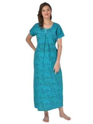 Mystere Paris Viscose Solid Red Nighty With Robe -E139A