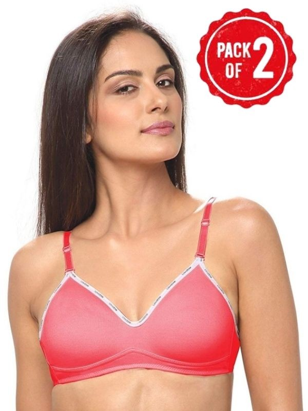 Centra Cotton Non Padded Non Wired Full Coverage Pink Bra(Pack of 3)- CLY1-3PC-PK