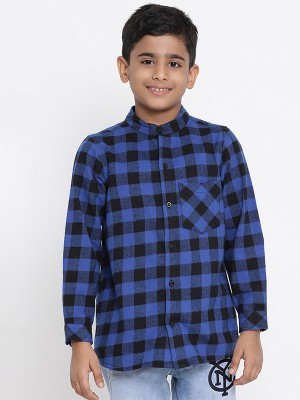 Oxolloxo Blue Printed Cotton Boys Shirts - W19146BSH001