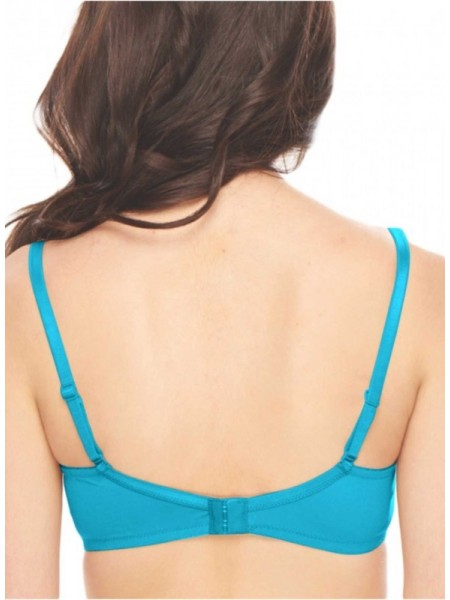 Sona Cotton BLACK GREEN 3/4th Coverage Non Padded Non Wired Bra (Pack of 2)-M1001-BLACK-GREEN