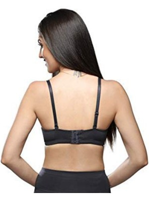 Sona Cotton BLACK PINK 3/4th Coverage Non Padded Non Wired Bra (Pack of 2)-M1001-BLACK-PINK