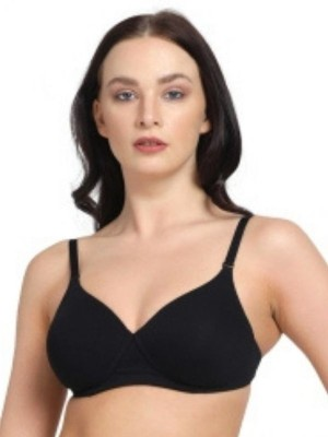 Sonari Spandex Padded Non Wired Full Coverage Black Bra- DB508Brilliant Black
