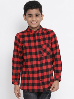 Oxolloxo Red Printed Cotton Boys Shirts - W19146BSH005