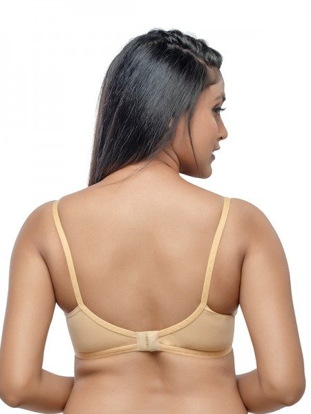 Sonari Hosiery Peach 3/4th Coverage Non Padded Non Wired Bra (Pack of 2)-omaniablackpeach