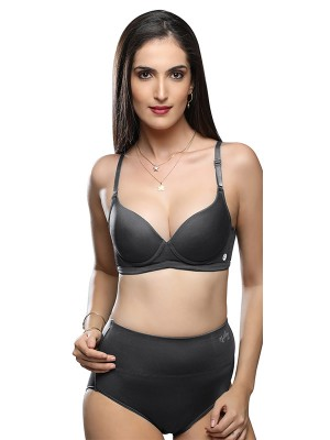 Sonari Cotton Hosiery Non Padded & Non Wired Full Coverage Black Bra (Pack of 2)-sloggyblackblack