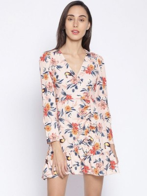 Oxolloxo Multicolor Floral Print Polyester Dress - S21223WDR001