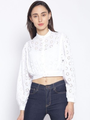 Oxolloxo White Embroidered Cotton Shirt - S21169WSH002