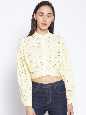 Oxolloxo Yellow Embroidered Cotton Shirt - S21169WSH003