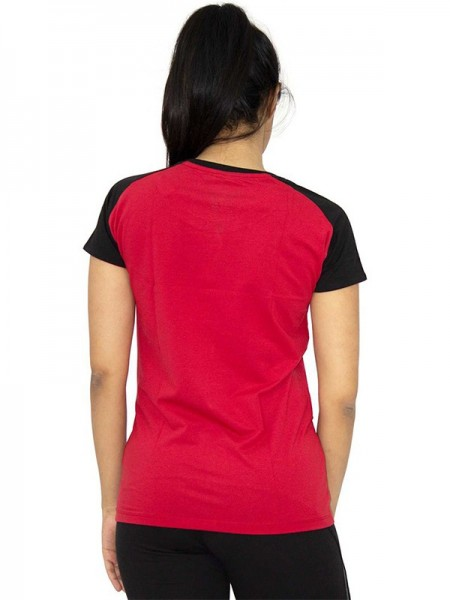 American-Elm Cotton Red Solid Tops-AE-CTOP-I