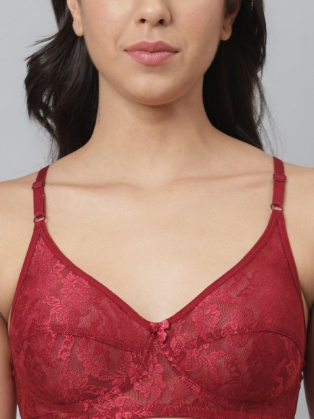 Klamotten Red Satin Solid Nightwear-X04