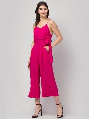 Spandex, Lace & Cotton Solid Mid Waist Medium Coverage Pink Hipster -PN2384P14